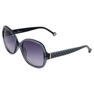 Carolina Herrera Women's 'SHE544 0G36' Grey/Blue Gloss Sunglasses