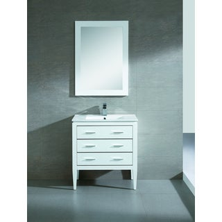 Fine Fixtures Exclusive 30 Inch White Plywood Vanity Set