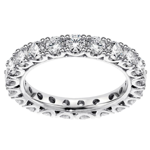 14k White Gold 1.55 - 1 3/4ct TDW Diamond Eternity Wedding Band