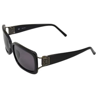 Givenchy Women's 'SGV777 0700' Black/ Gunmetal Sunglasses