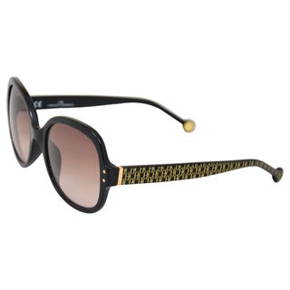 Carolina Herrera Women's 'SHE544 0700' Black Sunglasses