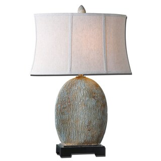 Uttermost Seveso 1-light Blue Table Lamp