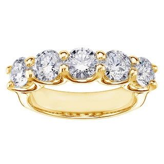 1 3/5ct TDW Round-cut U-prong Diamond Band