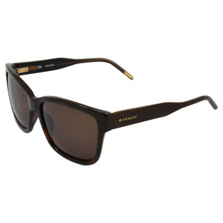Givenchy Women's 'SGV813 09XK' Dark Havana Fashion Sunglasses