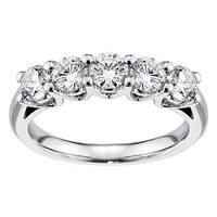 14k/ 18k White Gold 1ct TDW Diamond Anniversary Ring