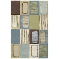 Hand-tufted Lawrence Multi Dimensions Wool Area Rug - 5' x 7'9