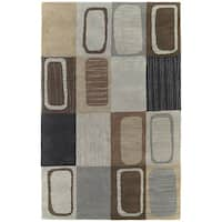 Hand-tufted Lawrence Multicolored Dimensions Wool Rug (3' x 5') - 3' x 5'