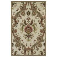 Hand-tufted Lawrence Multicolored Damask Wool Rug - 7'6 x 9'