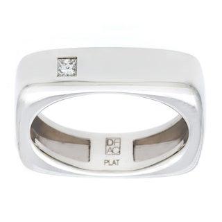 Diamonds For A Cure Platinum 1/10ct Square Ring (H-I, VVS1-VVS2)