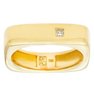 Diamonds For A Cure 18k Yellow Gold Square Ring (H-I, VVS1-VVS2)