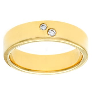 Diamonds For A Cure 18k Yellow Gold 1/10ct TDW Bezel Band (H-I, VVS1-VVS2)