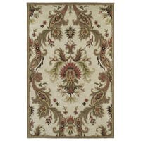 Hand-tufted Lawrence Multicolored Damask Wool Rug - 8' x 11'