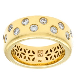 Diamonds For A Cure 18k Yellow Gold 4\5ct TDW Bezel Ring (H-I, VVS1-VVS2)