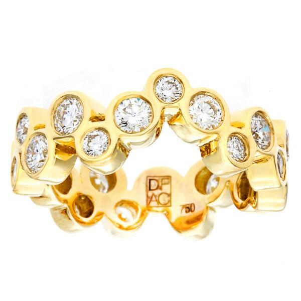 Neda Behnam DFAC 18k Yellow Gold Bezel Diamond Ring (H-I, VVS1-VVS2)