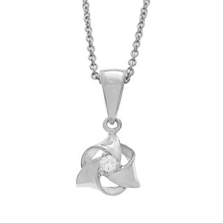Diamonds For A Cure 14k White Gold Diamond Necklace (H-I, SI1-SI2)