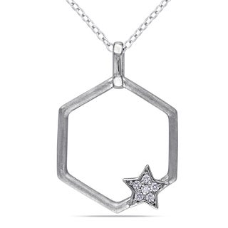 Miadora Sterling Silver Diamond Accent Star Necklace