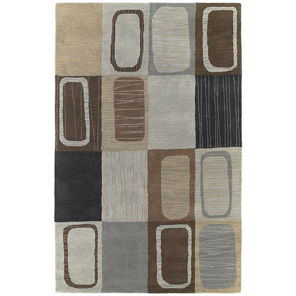 Hand-tufted Lawrence Multicolored Dimensions Wool Rug - 9'6 x 13'