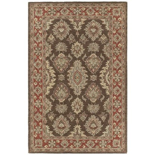 Hand-tufted Lawrence Brown Kashan Wool Rug (3' x 5')