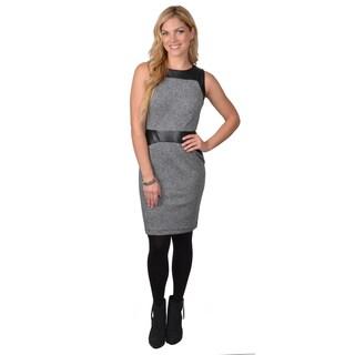 Calvin Klein Women's SleevelessTweed Sheath Dress