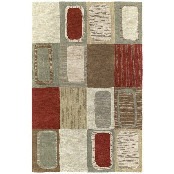 Lawrence Multicolored Dimensions Hand-tufted Wool Rug (9'6 x 13')