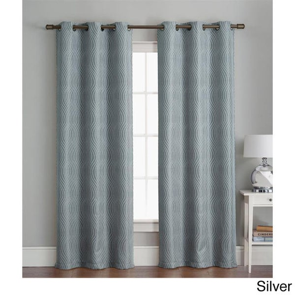 VCNY Grommet 84-inch Textured Curtain Panel Pair - 38 x 84