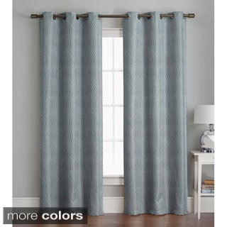 VCNY Grommet 84-inch Textured Curtain Panel Pair