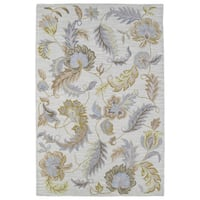 Lawrence Oatmeal Floral Hand-tufted Wool Rug - 3' x 5'