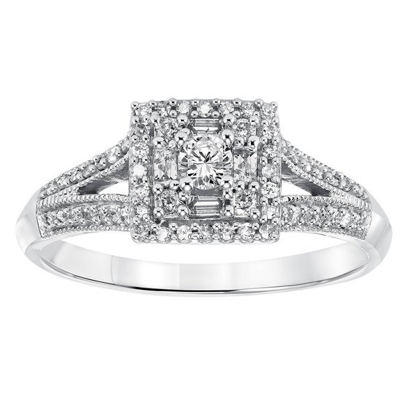 Cambridge 14k White Gold 2/5ct TDW Princess Diamond Ring