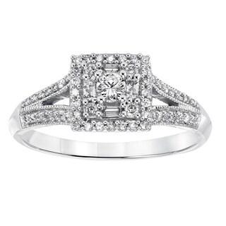 Cambridge 14k White Gold 2/5ct TDW Princess Diamond Ring