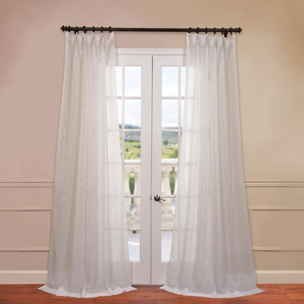 Exclusive Fabrics Signature Off White Double Layer Sheer