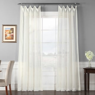 Exclusive Fabrics Signature Off White Double Layer Sheer Curtain Panel