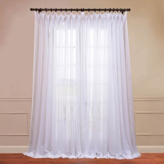 Exclusive Fabrics Double Layer Sheer White Curtain Panel (3 options available)