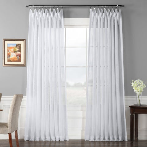 Exclusive Fabrics Double Layer Sheer White Curtain Panel