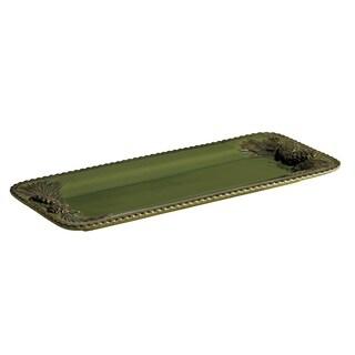 Paula Deen 'Southern Pine' Green Rectangular Platter