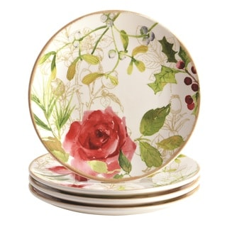 Paula Deen 'Holiday Floral' 4-piece Salad Plate Set