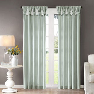 Madison Park Natalie Twisted Tab Lined Single Curtain Panel