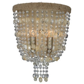 Crystorama Eva Collection 2-light Burnished Silvertone Wall Sconce