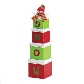 'Snow' Holiday Decorative Gift Boxes