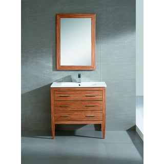Fine Fixtures Exclusive 36-inch Plywood Zebra Vanity Set