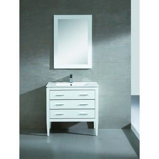 Fine Fixtures Exclusive 36-inch White Plywood Vanity Set
