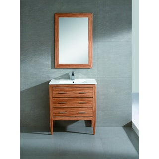 Fine Fixtures Exclusive 30-inch Plywood Zebra Vanity Set