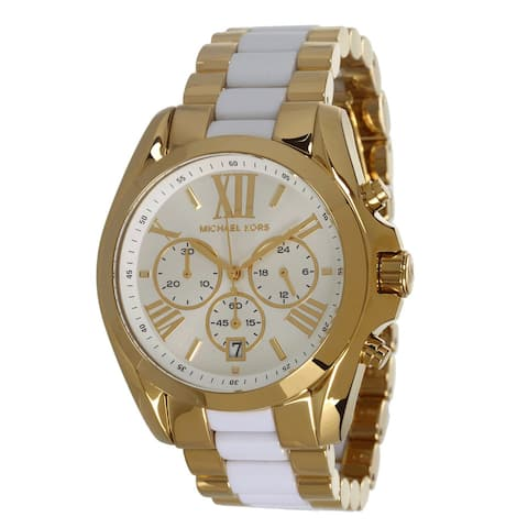 a2b78493bc5a Michael Kors Women s MK5743 Gold-Tone White Chronograph Watch