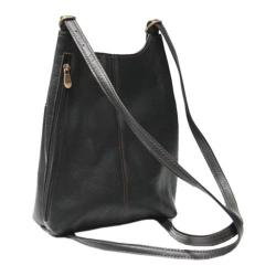 Women's Royce Leather Vaquetta Sling Backpack Black