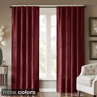 Madison Park Scarlett Diamond Pintuck Window Panel