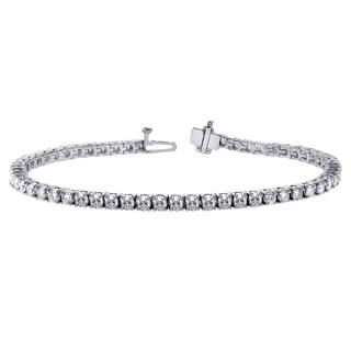14k White Gold 6ct TDW 4-prong Brilliant-cut Round Diamond Tennis Bracelet (G-H, SI1-SI2)
