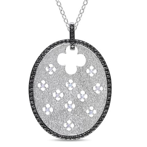 Miadora Sterling Silver 1/10ct TDW Diamond Necklace