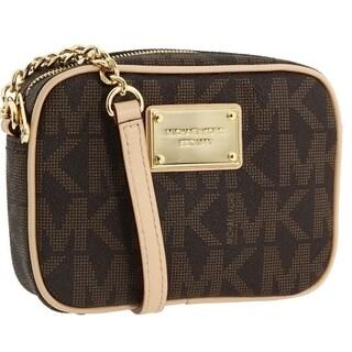 MICHAEL Michael Kors 'Jet Set' Small Brown Crossbody Bag
