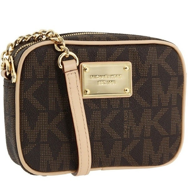 MICHAEL Michael Kors \u0026#39;Jet Set\u0026#39; Small Brown Crossbody Bag
