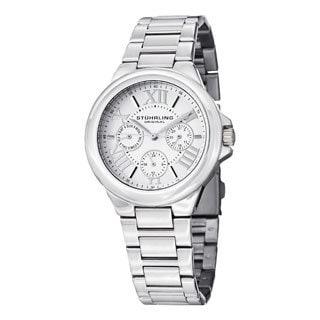 Stuhrling Original Women's Lady Pontiff Quartz Silver Stainless Steel Bracelet Watch