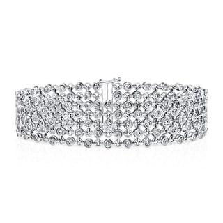 Auriya 14k White Gold 3 3/4ct TDW 5-Row Diamond Bracelet (H-I, SI1-SI2)